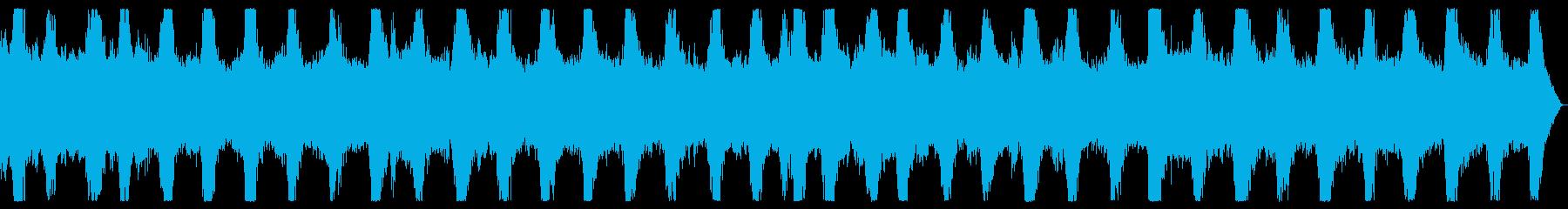 ダークアンビエント ノイズの入ったBGMの再生済みの波形