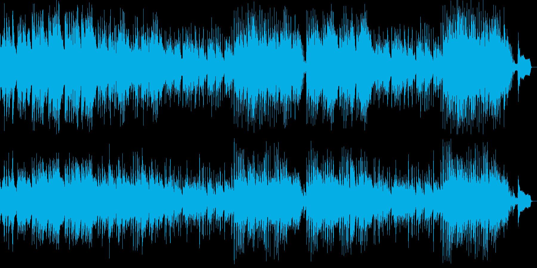 哀愁感のあるピアノ曲の再生済みの波形