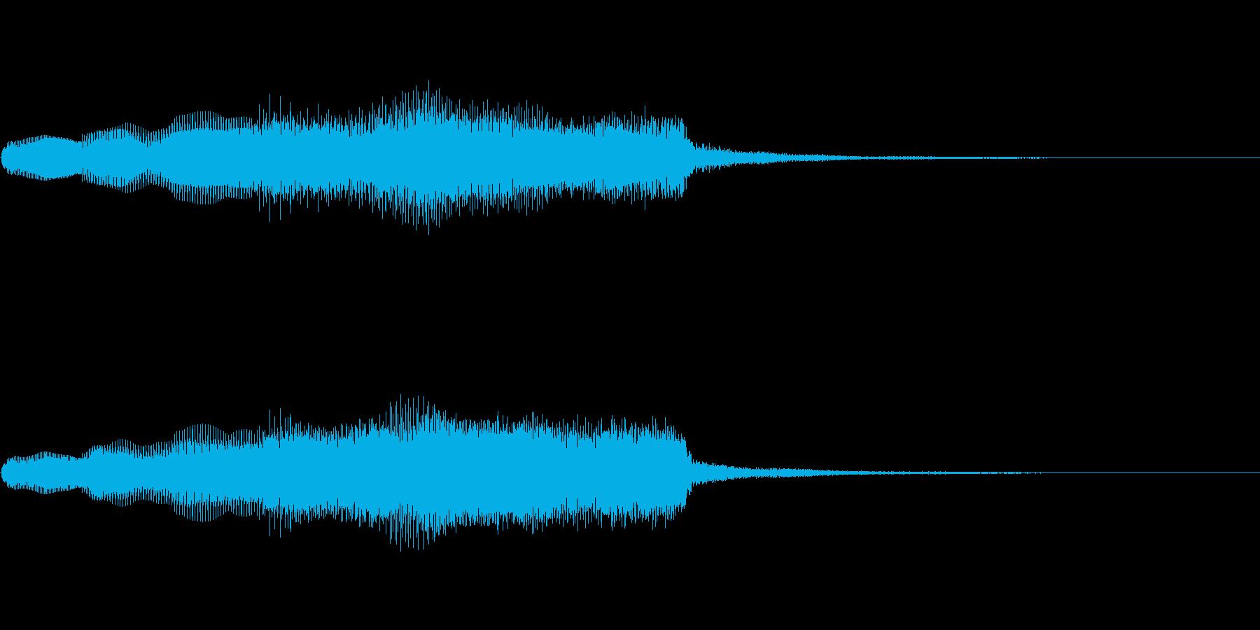 失敗した描写に合うようなパイプオルガンの再生済みの波形