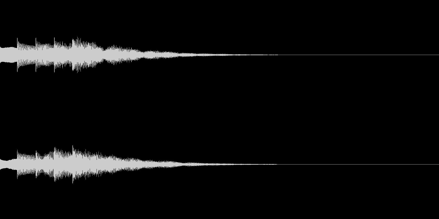 ゲームやアプリ用ピアノの上昇スイッチ音2の未再生の波形