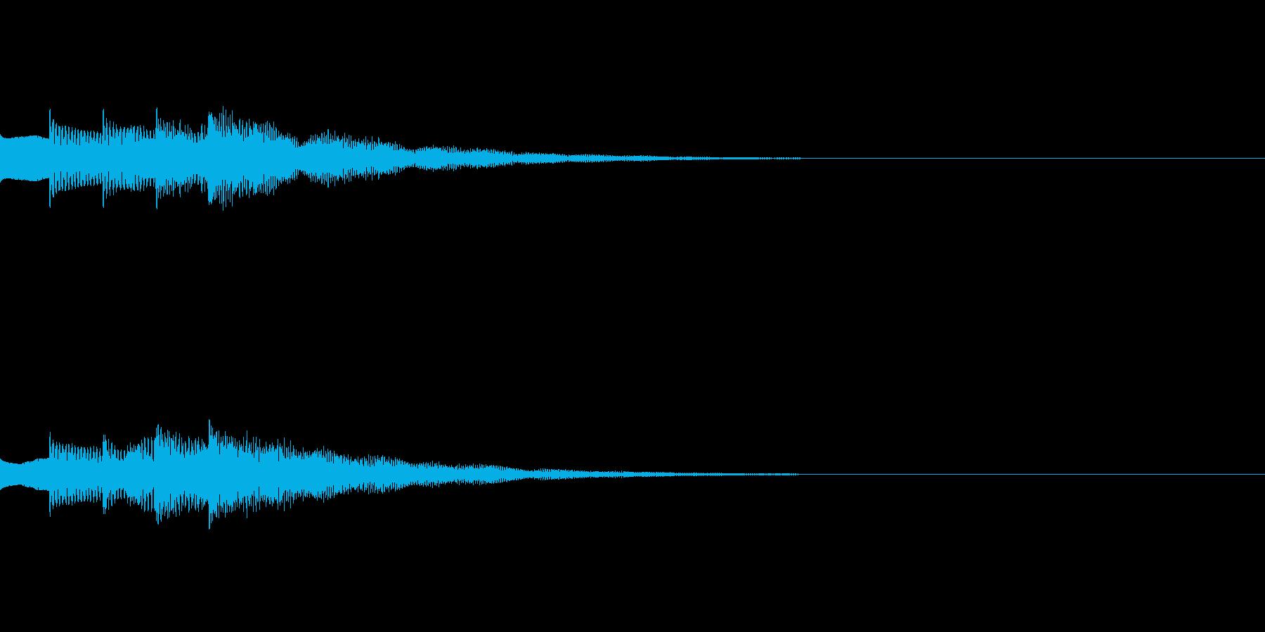 ゲームやアプリ用ピアノの上昇スイッチ音2の再生済みの波形