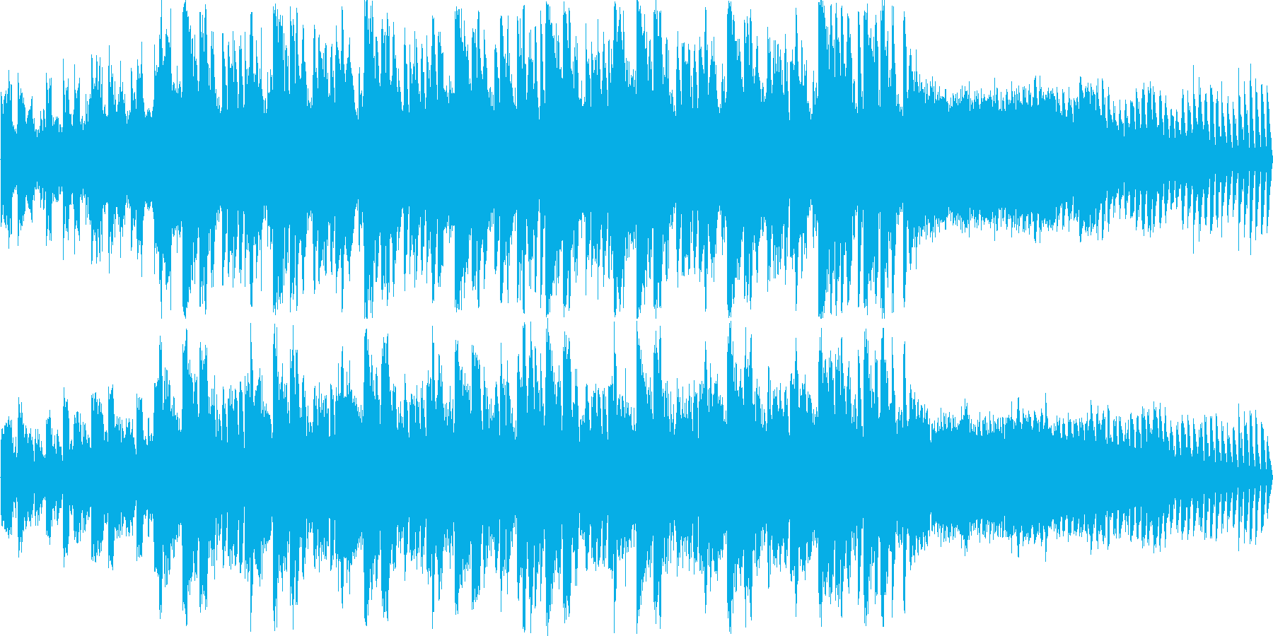近未来ヒップ・ホップ・ジャズ風の再生済みの波形