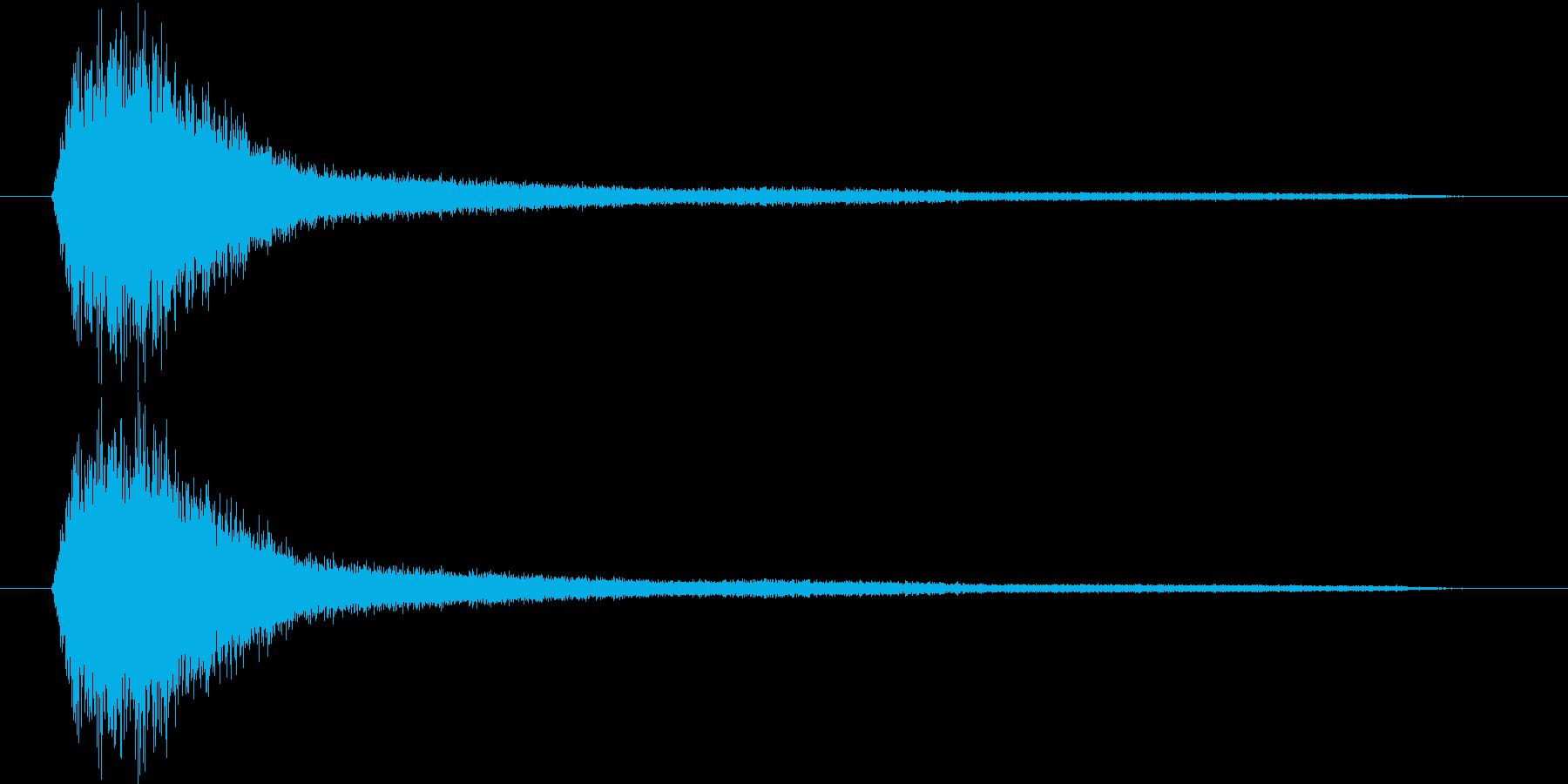 シュワ~の再生済みの波形
