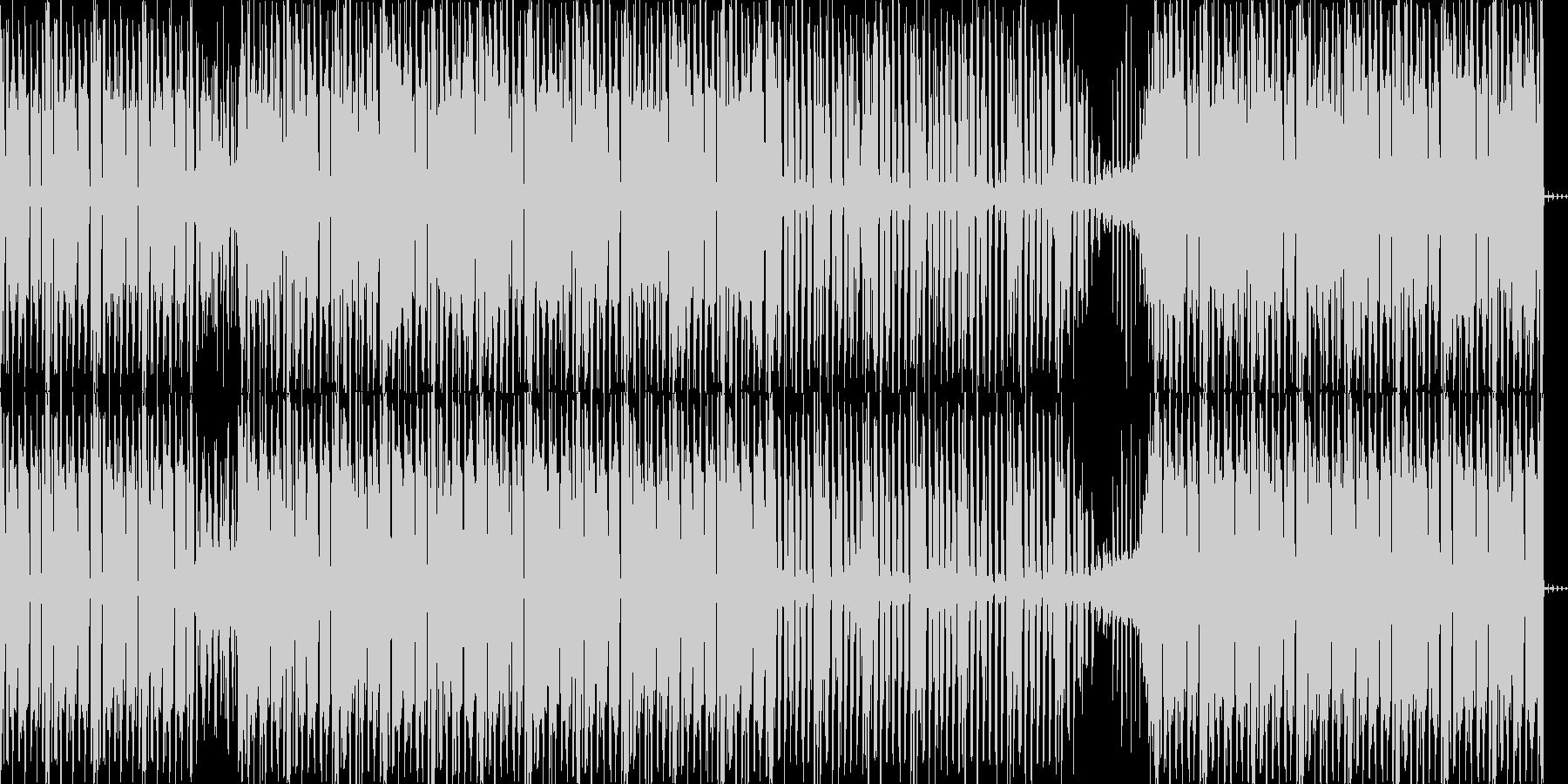 定番のミニマル・テクノの未再生の波形