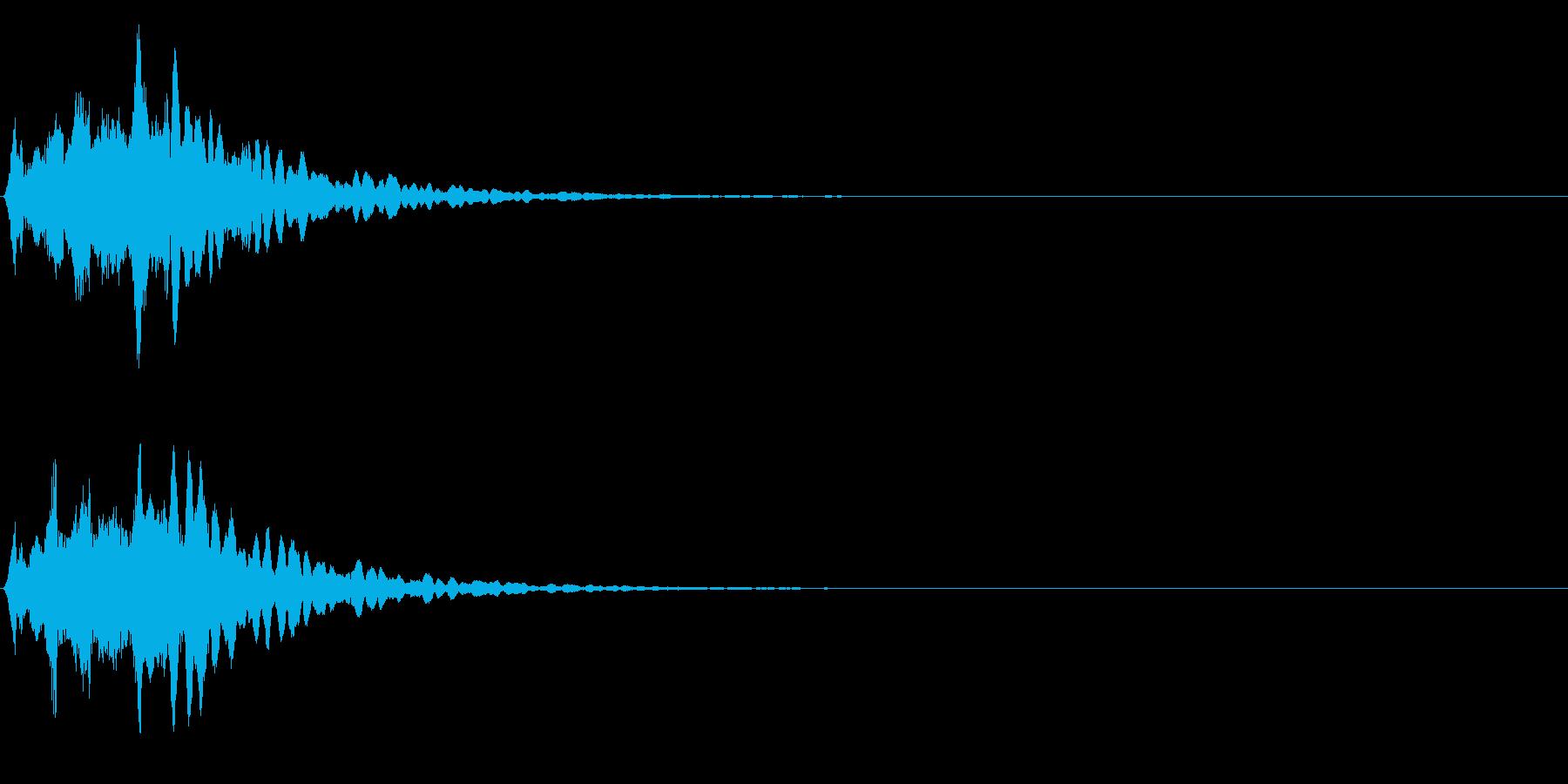 ゲームスタート、決定、ボタン音-010の再生済みの波形