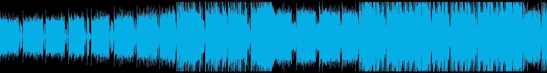 レトロ系ゲーム、オープニング、ループ仕様の再生済みの波形