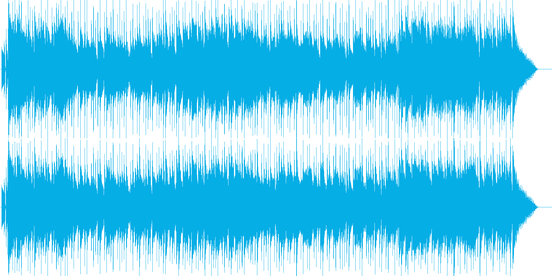 ハーモニカとアコギのスローなカントリーの再生済みの波形