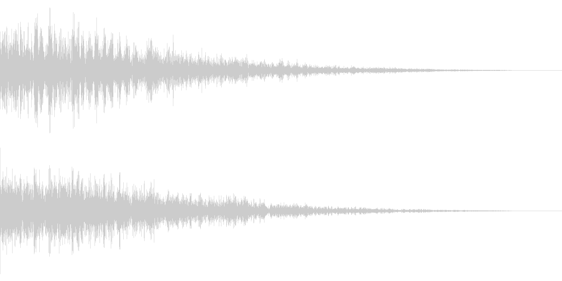 ホラー系アタック音39の未再生の波形