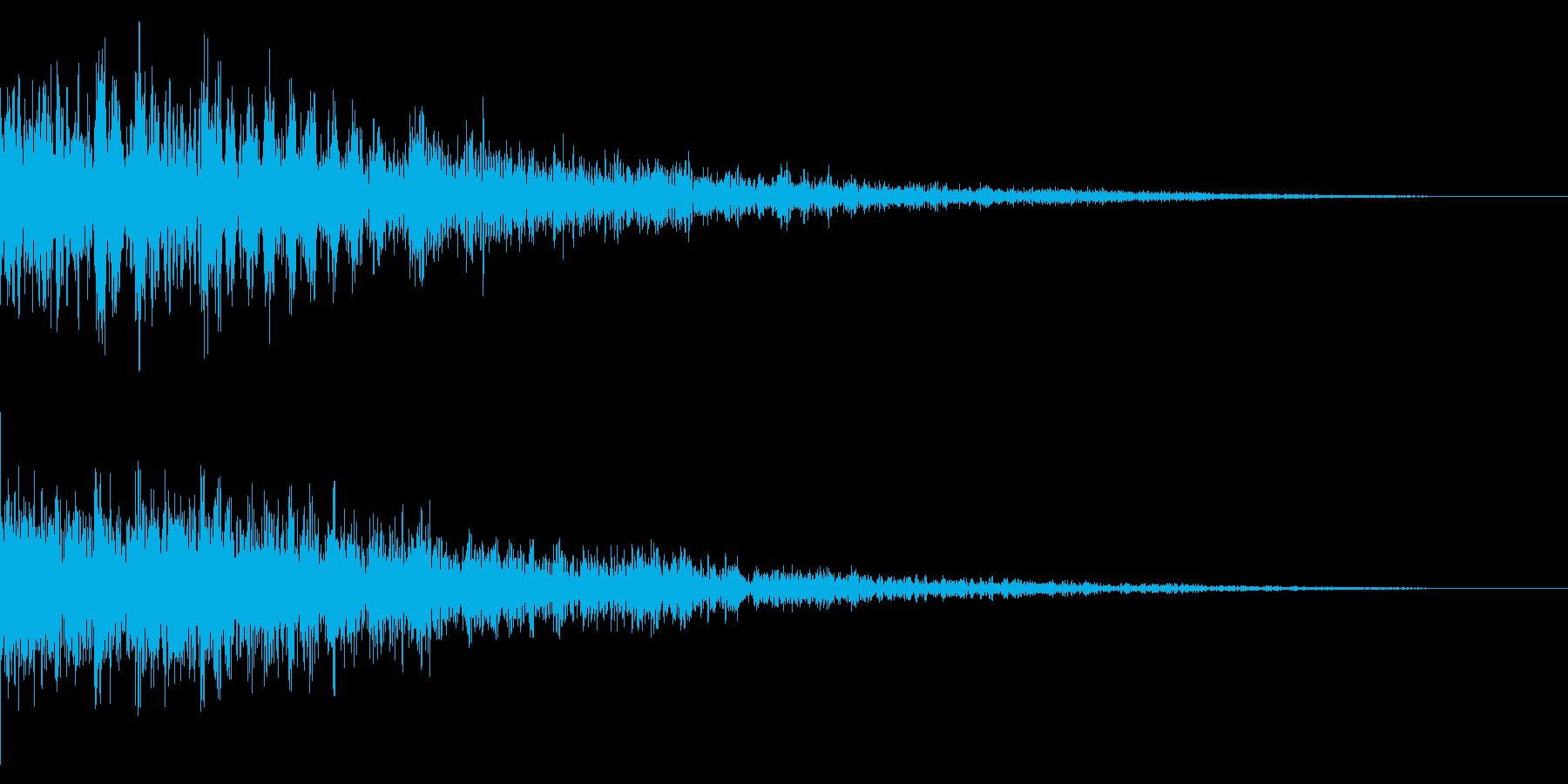 ホラー系アタック音39の再生済みの波形