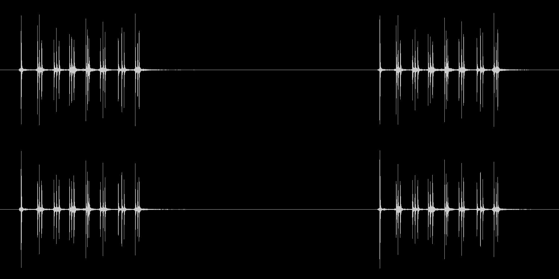 オルゴールのネジをまく音の未再生の波形