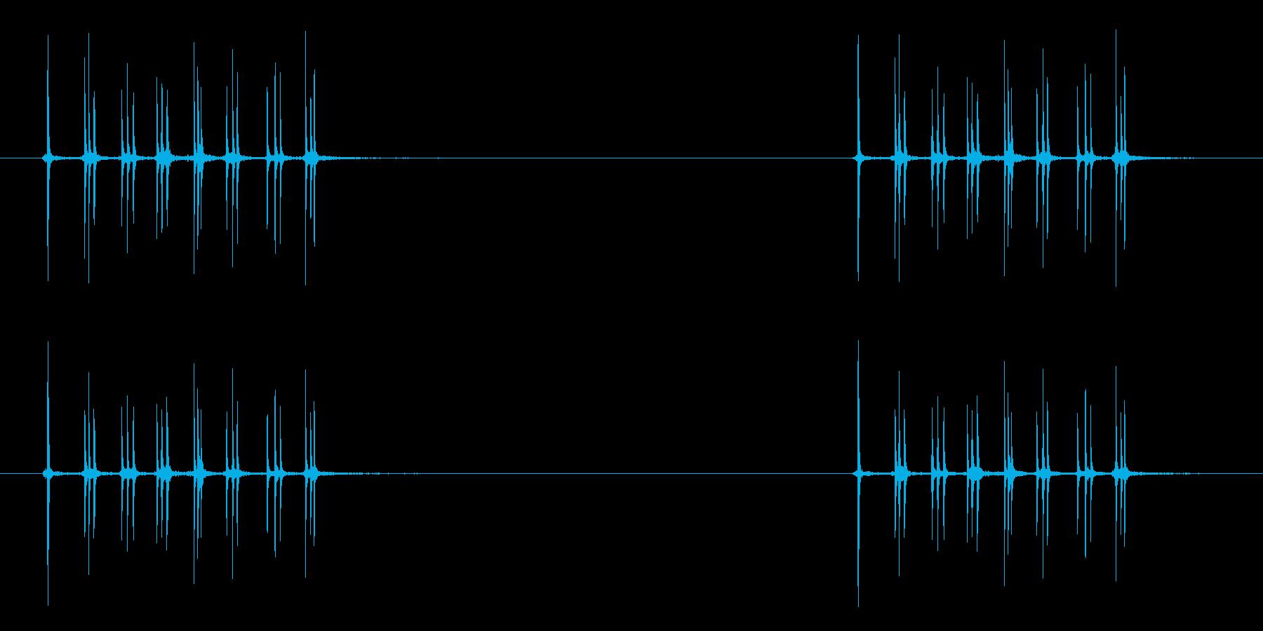 オルゴールのネジをまく音の再生済みの波形