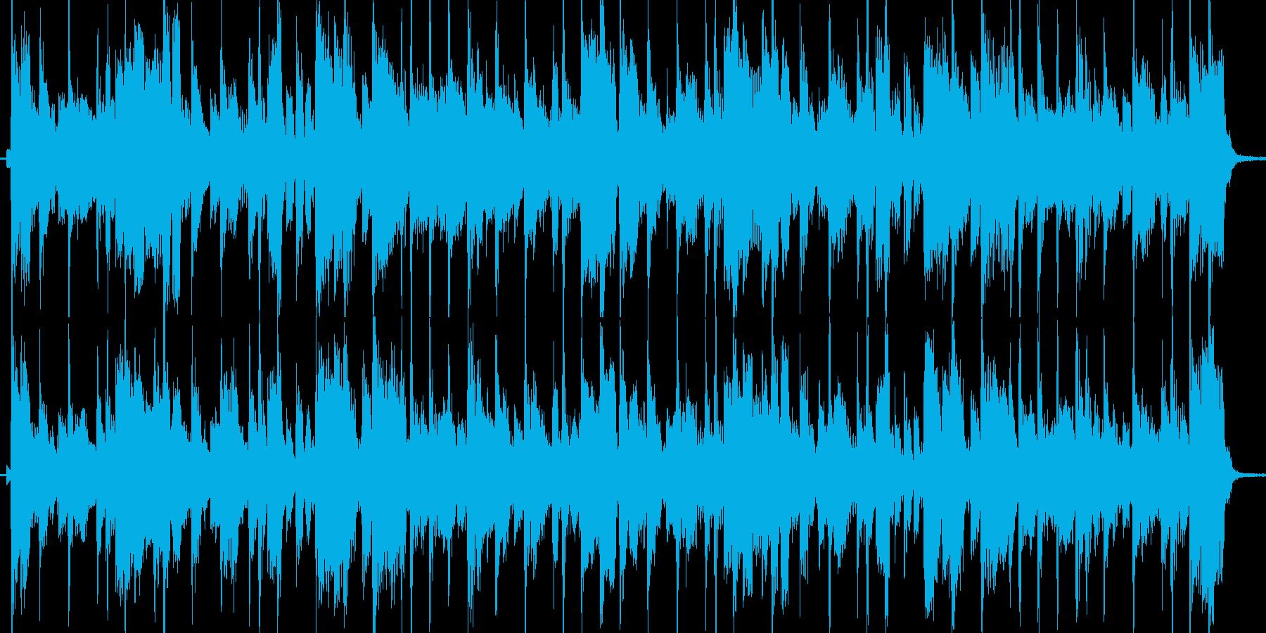 クールでかっこいいフュージョンジングルの再生済みの波形
