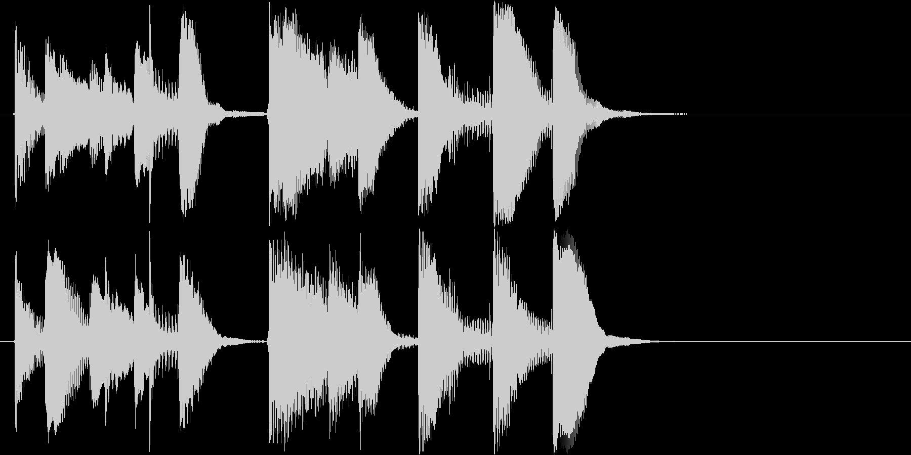 オシャレかっこいいピアノのジングルです。の未再生の波形
