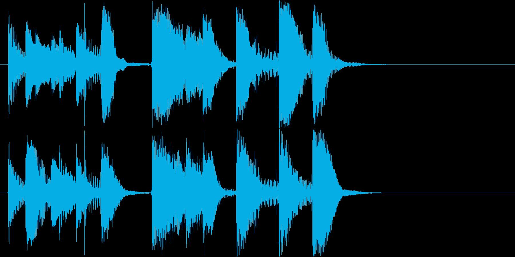 オシャレかっこいいピアノのジングルです。の再生済みの波形