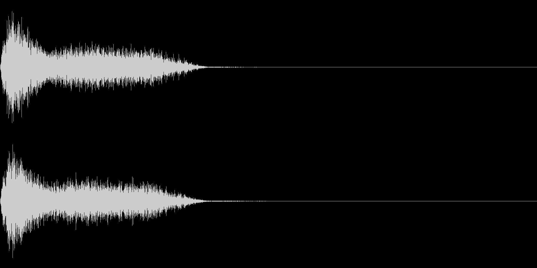 ビリビリ!電撃・感電の音!4ショートの未再生の波形