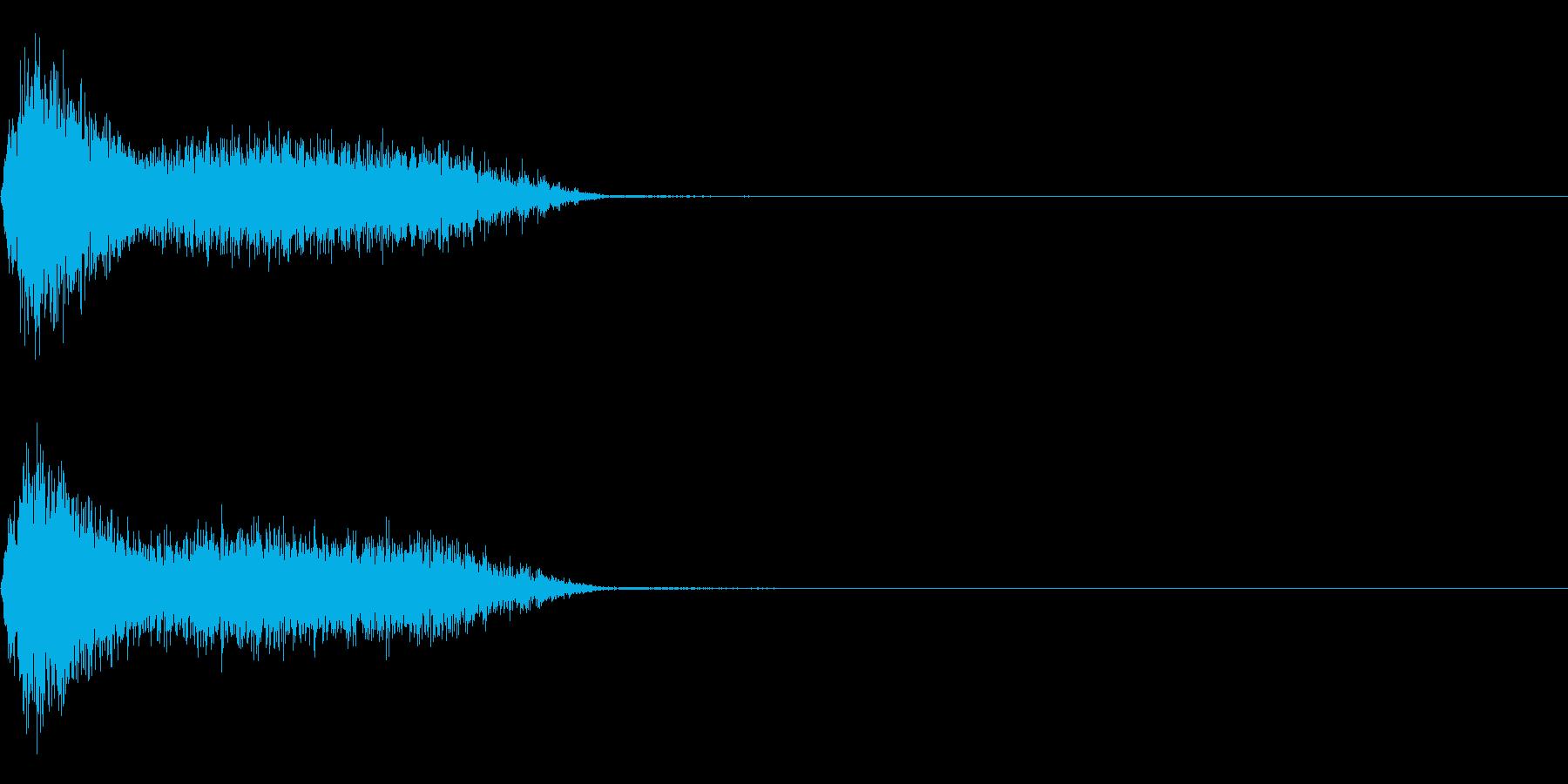 ビリビリ!電撃・感電の音!4ショートの再生済みの波形