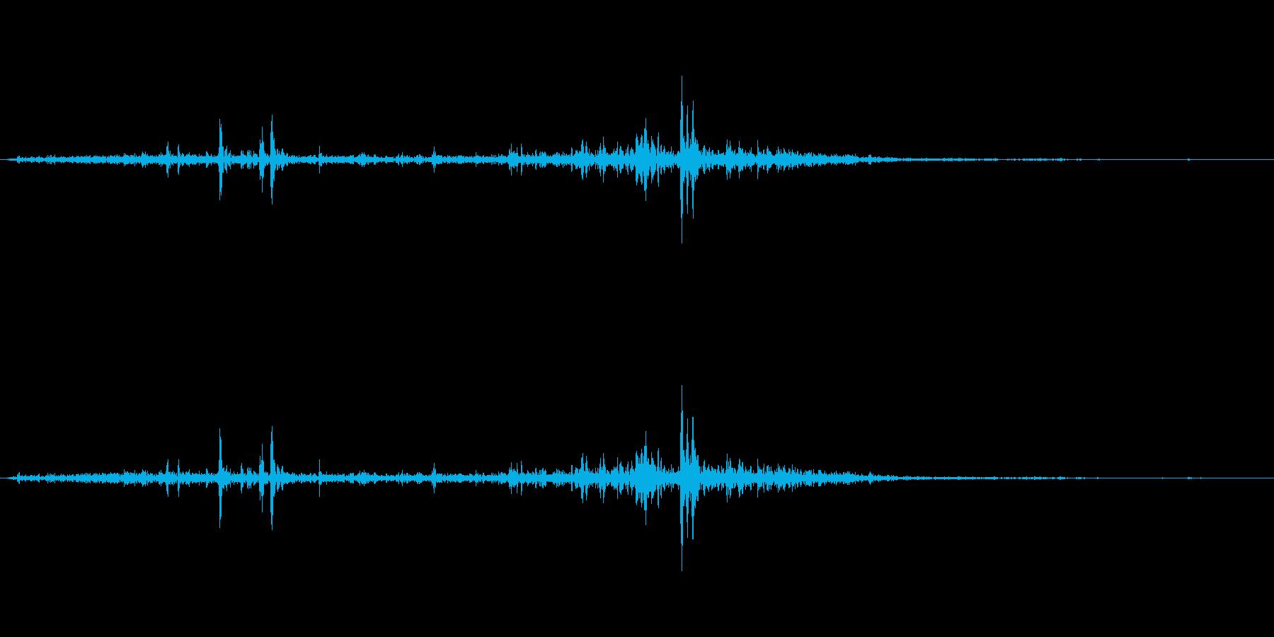 梨(りんご)をかじる音の再生済みの波形