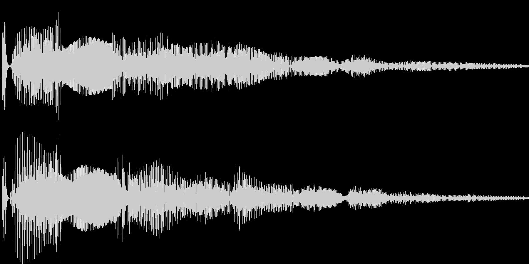 汎用キャンセルボタン - 2の未再生の波形