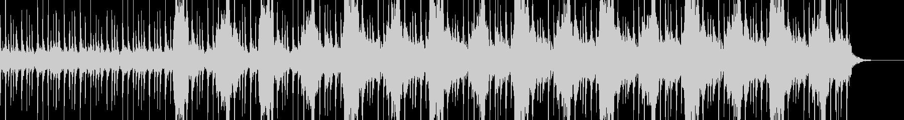 ジャングルをイメージした不思議な民族音楽の未再生の波形