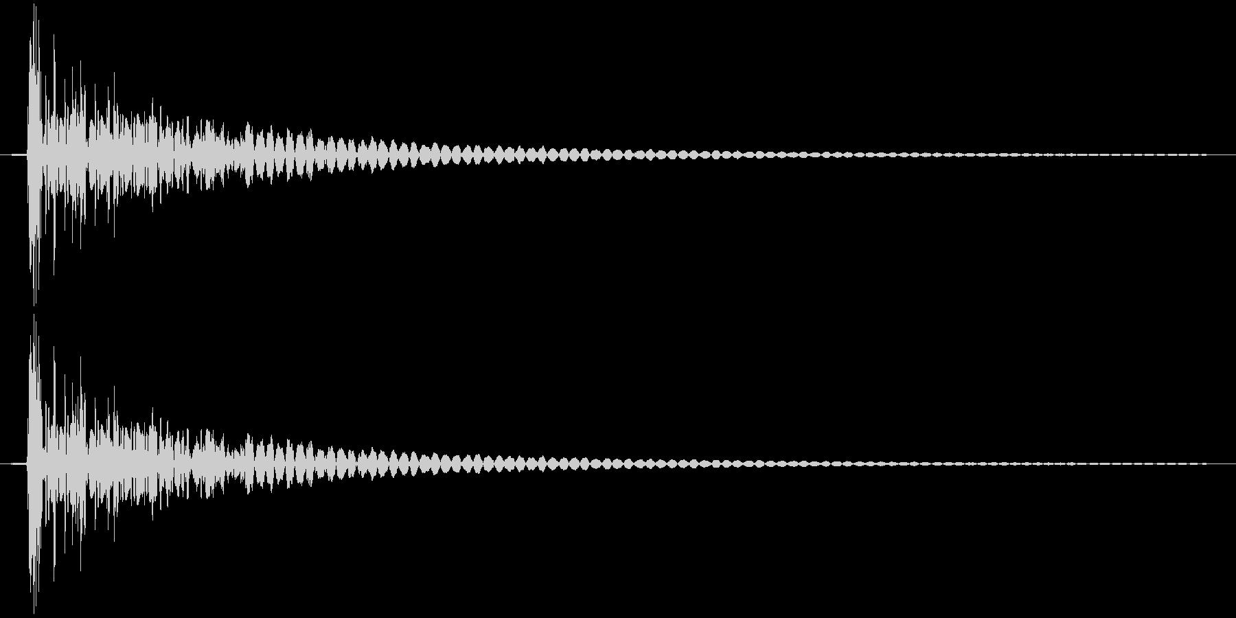 打撃 衝撃音の未再生の波形