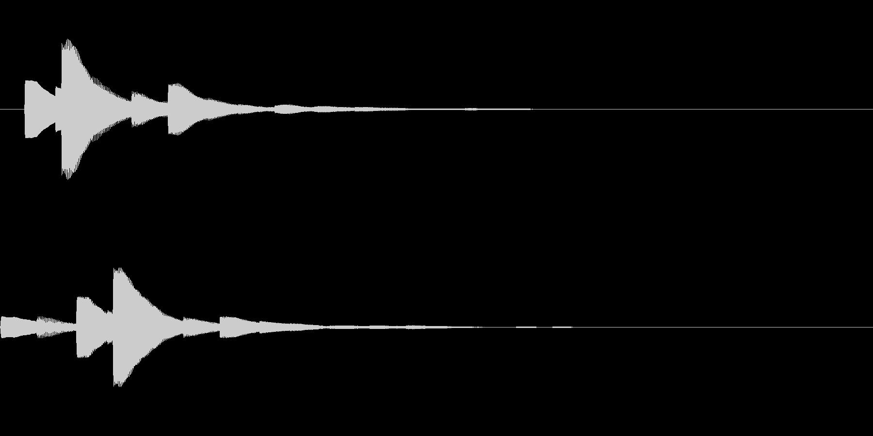 システム音22_シンセDZの未再生の波形