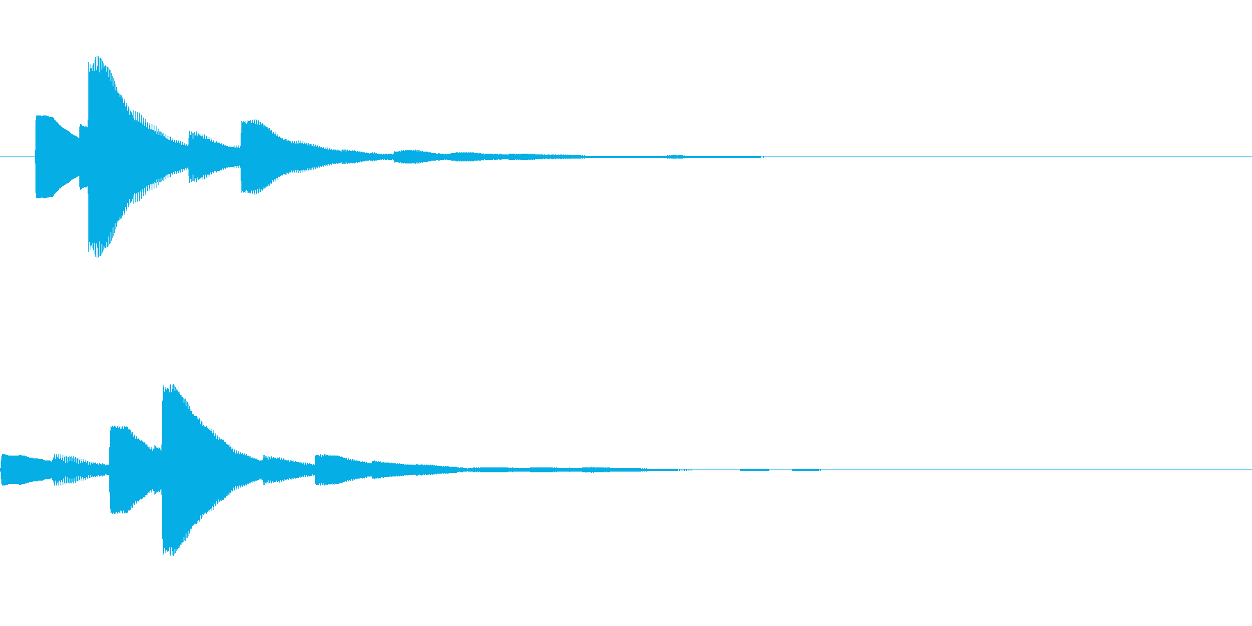 システム音22_シンセDZの再生済みの波形
