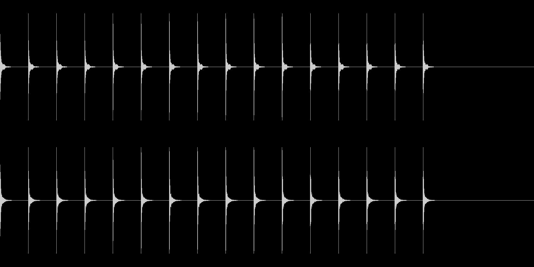 木製メトロノームBPM120 カチカチの未再生の波形