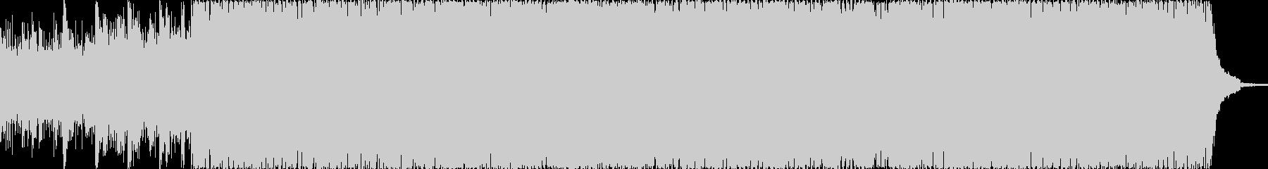 ギターのオープニング明るいポップ調テクノの未再生の波形