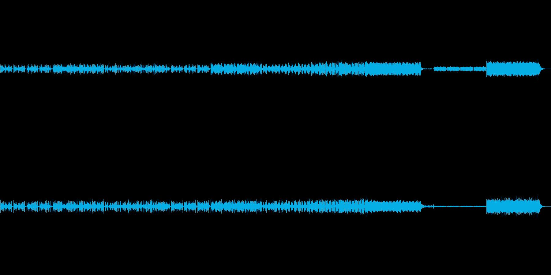 ピアノが軽快なインストの再生済みの波形