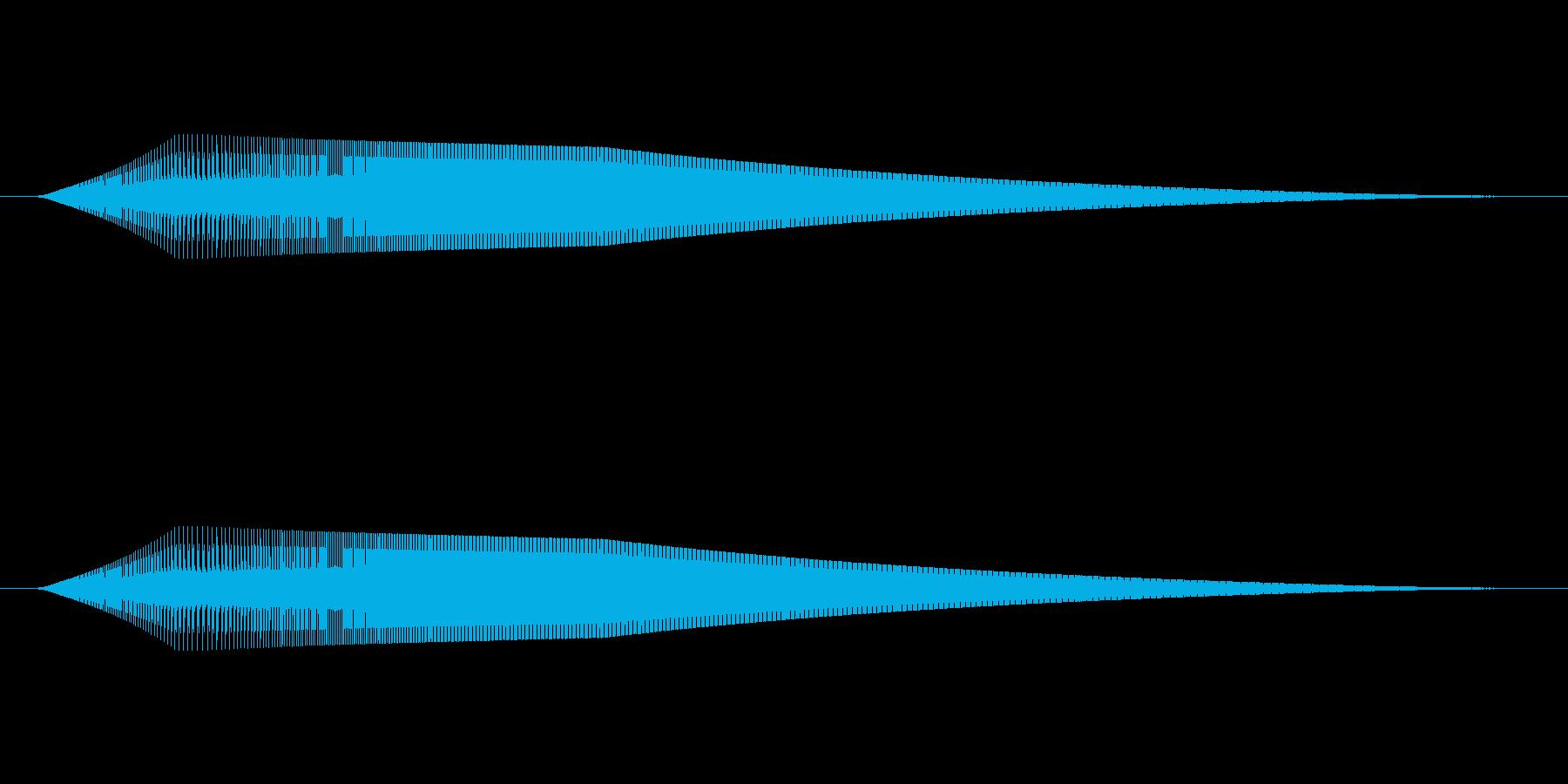起動音その2の再生済みの波形