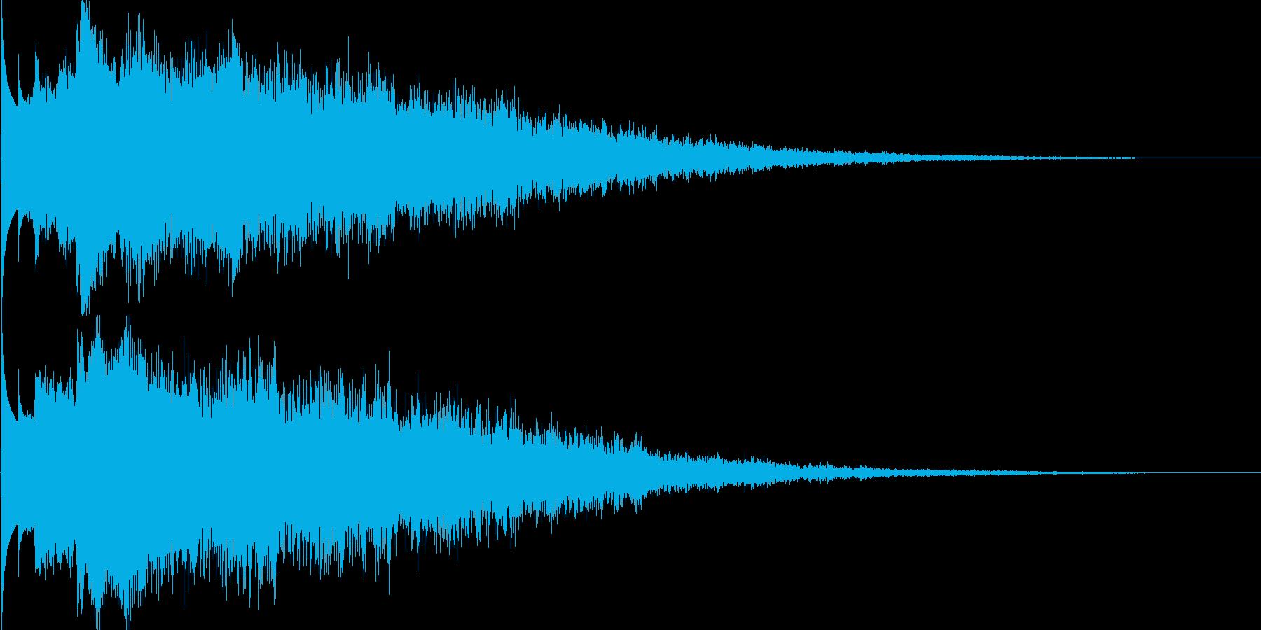 キラーン(ゲーム、アプリ等の決定音等に)の再生済みの波形