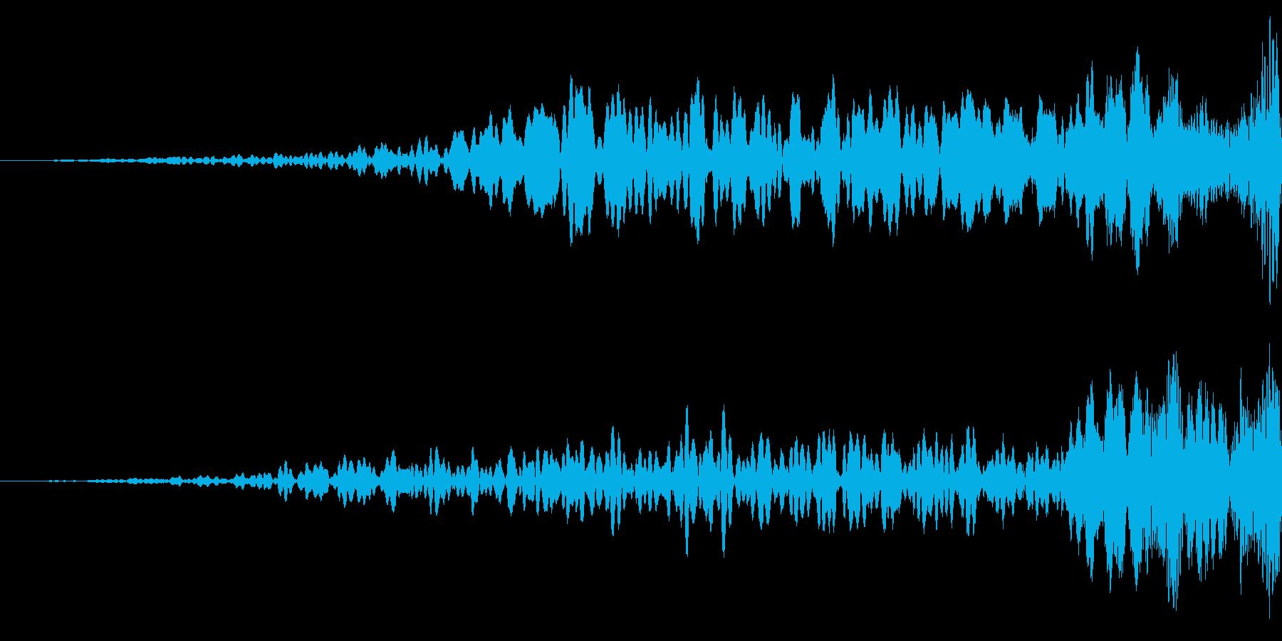 空間的な効果音です。の再生済みの波形