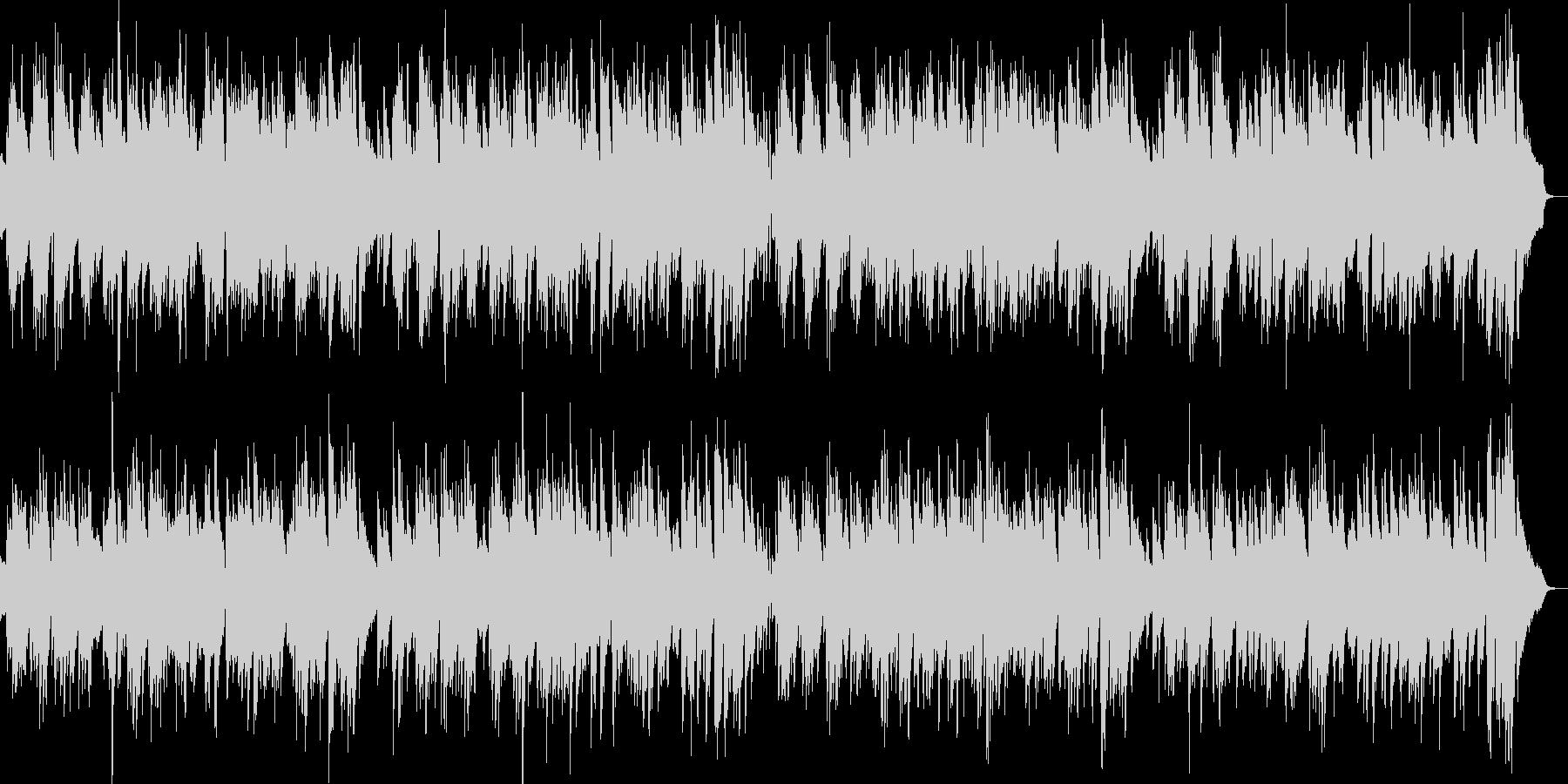 2台のピアノ生演奏元気なハッピーブルースの未再生の波形
