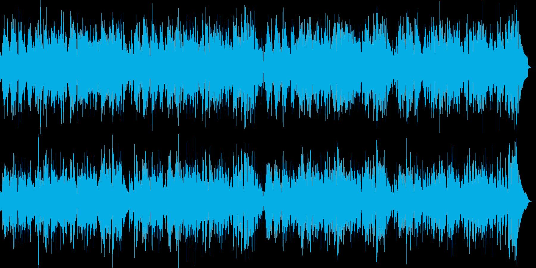 2台のピアノ生演奏元気なハッピーブルースの再生済みの波形