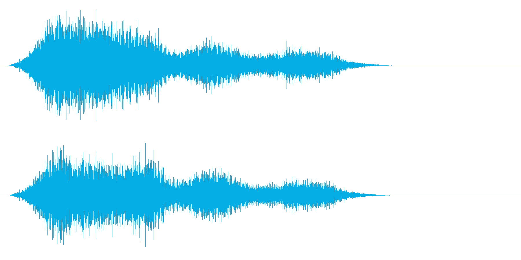 場面 風の再生済みの波形