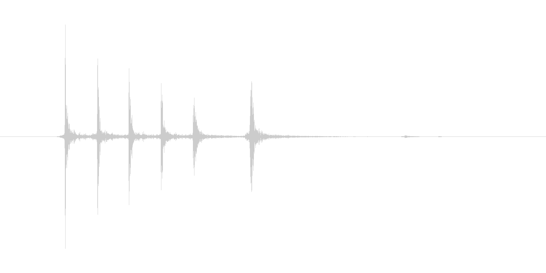 カッターの刃の未再生の波形