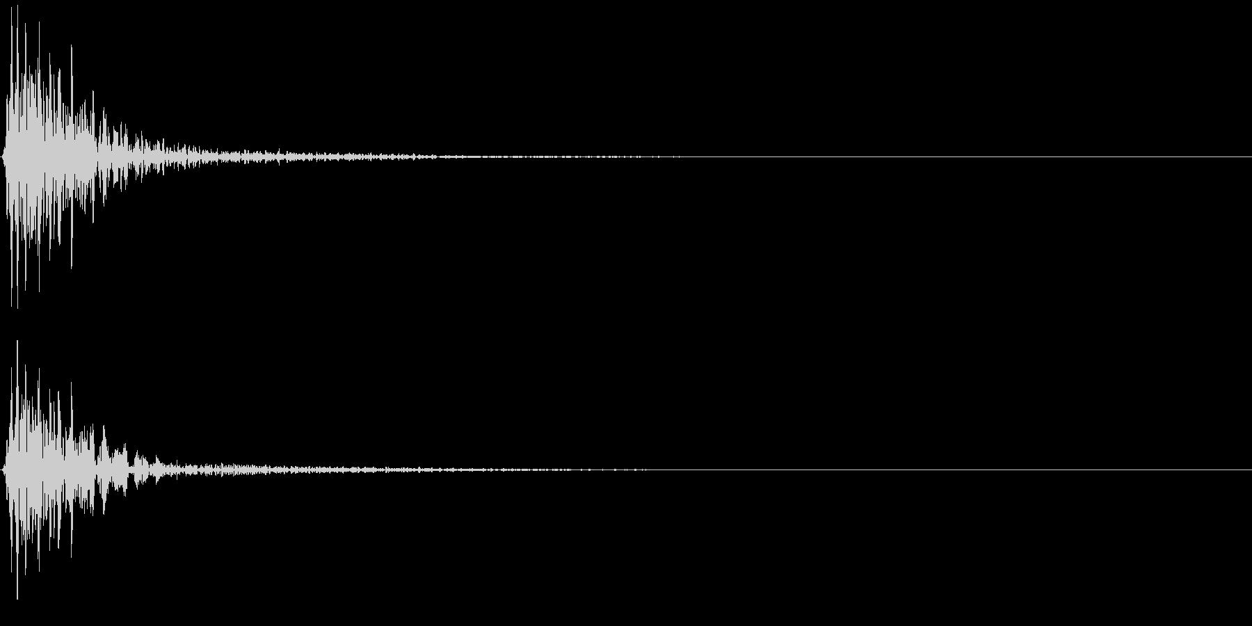 ポーン(ゲーム、アプリなどの操作音04)の未再生の波形