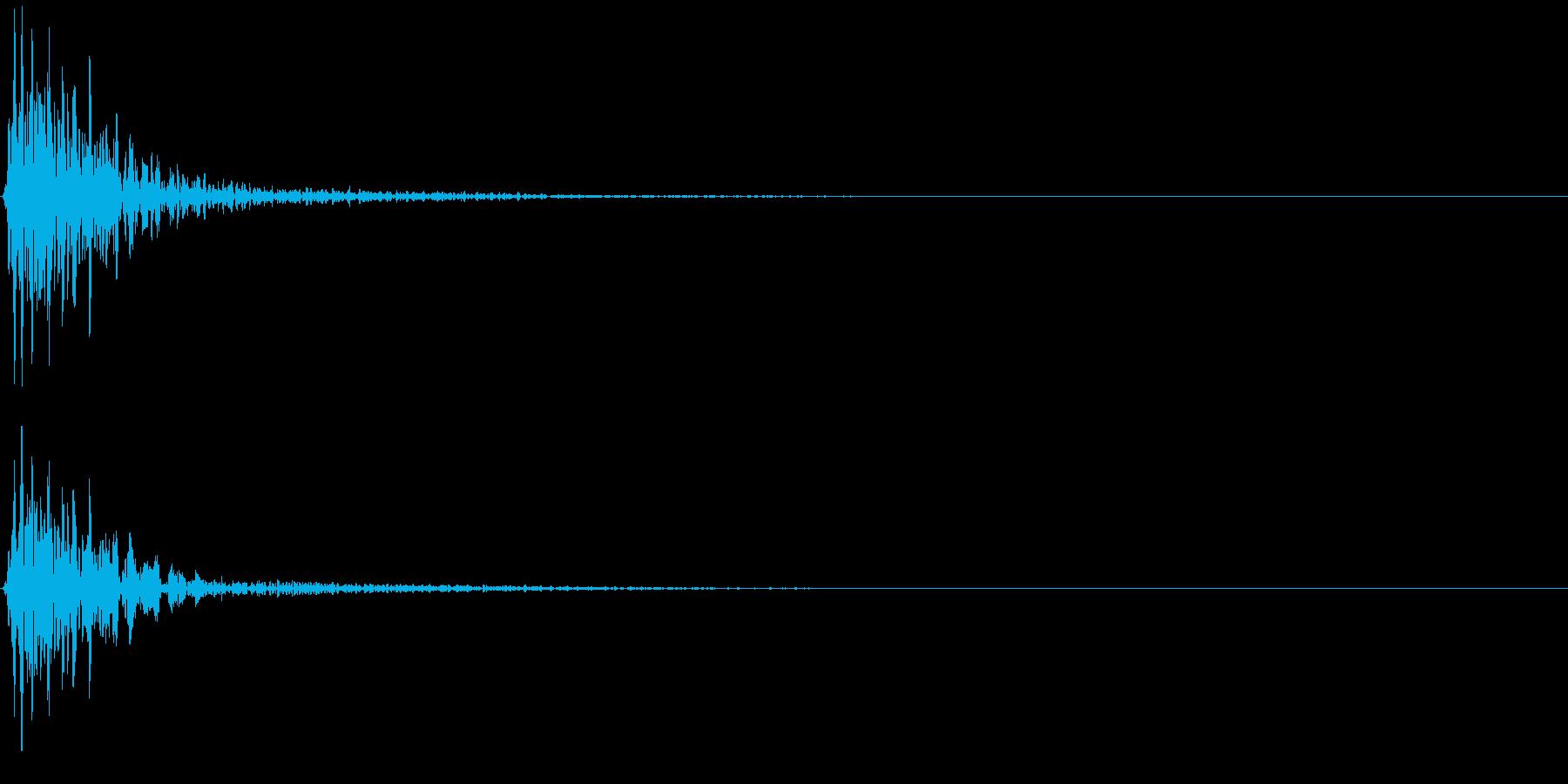 ポーン(ゲーム、アプリなどの操作音04)の再生済みの波形