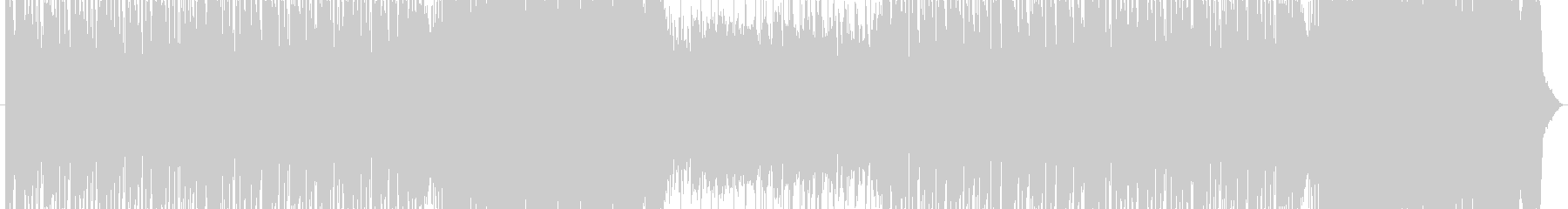 臨場感のあるサイバーロックの未再生の波形