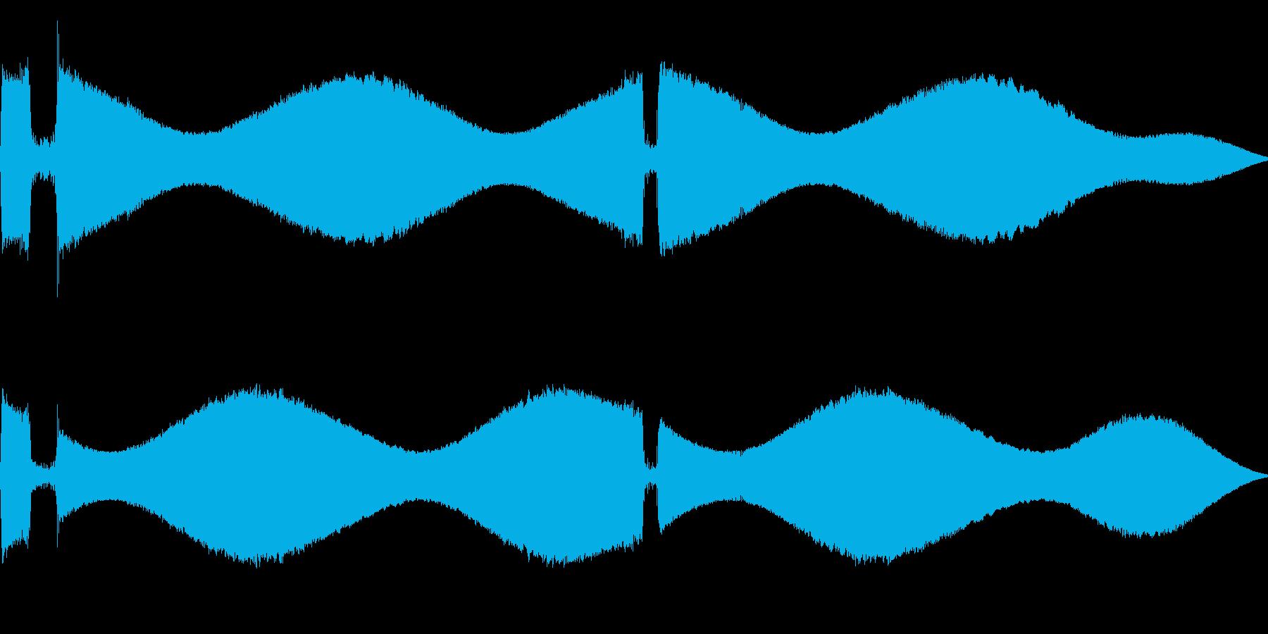 [効果音]ピポパポ、着信音の再生済みの波形
