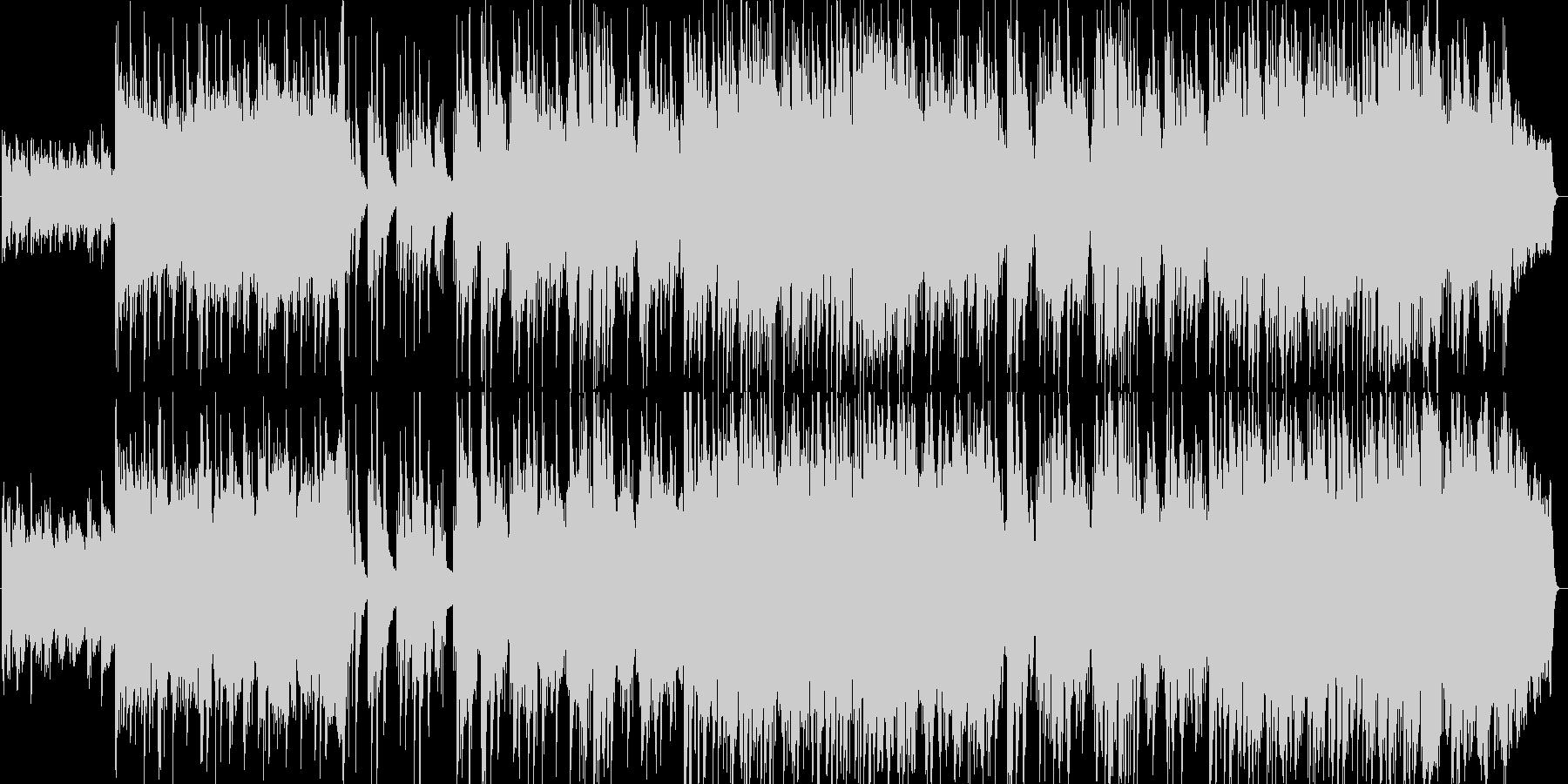 一人の夜シンセサイザー系サウンドの未再生の波形
