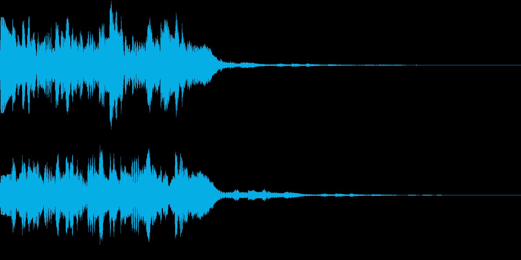 GameSFX 敵との遭遇音風SEの再生済みの波形