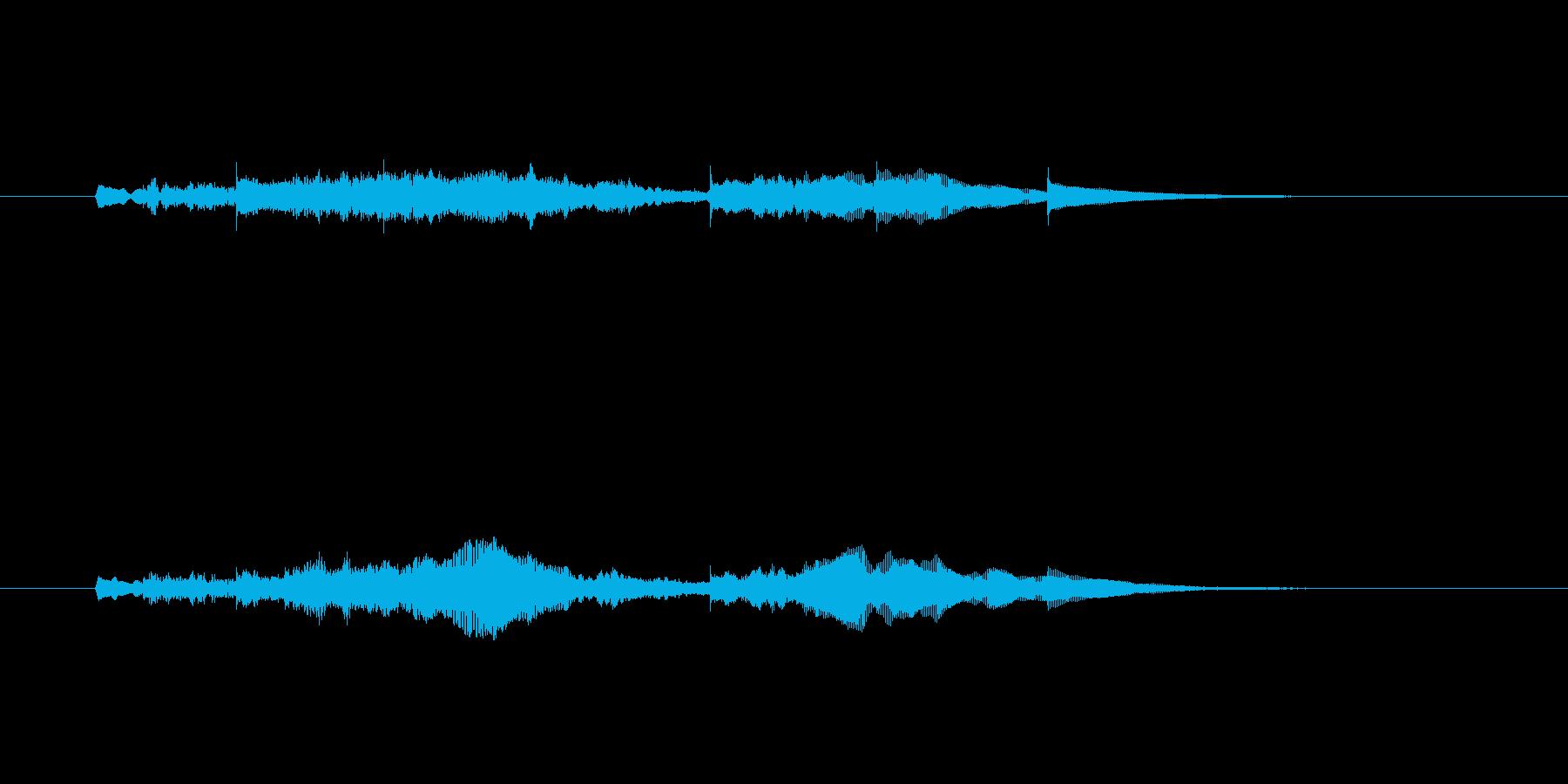 ジングル(やさしい感じ)の再生済みの波形
