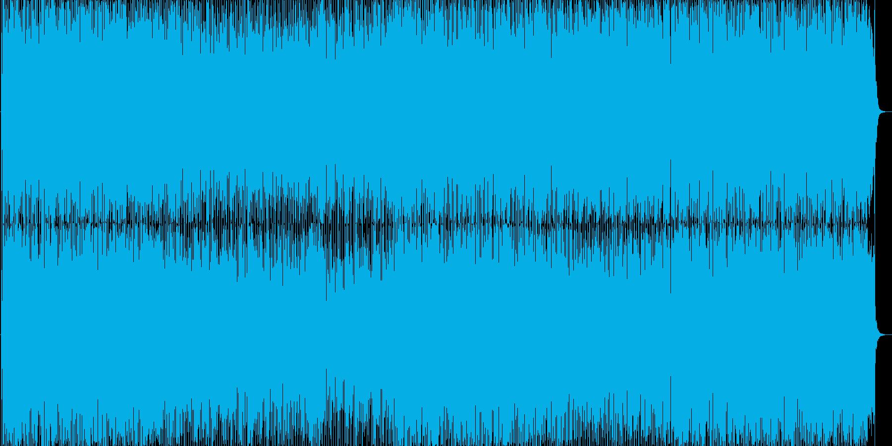 ミドルテンポな明るいポップスナンバーの再生済みの波形
