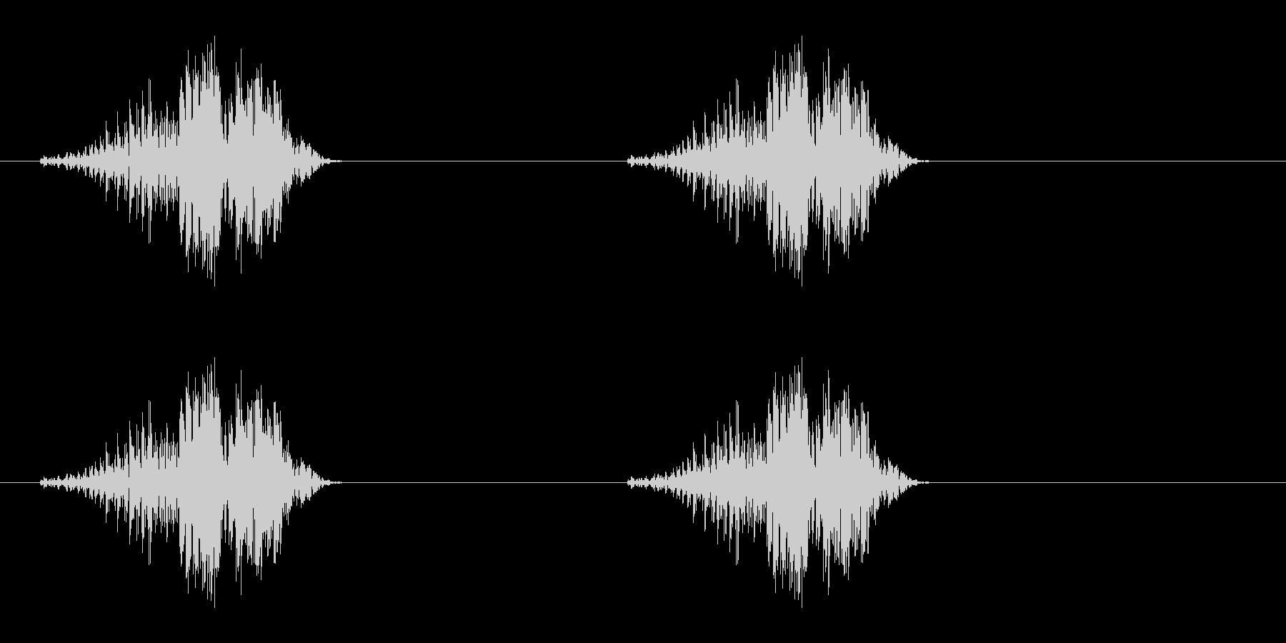 グーグー(いびき、睡眠状態、Zzz)の未再生の波形
