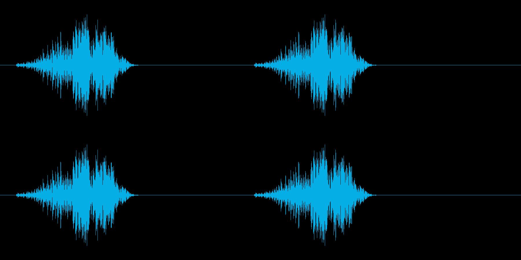 グーグー(いびき、睡眠状態、Zzz)の再生済みの波形