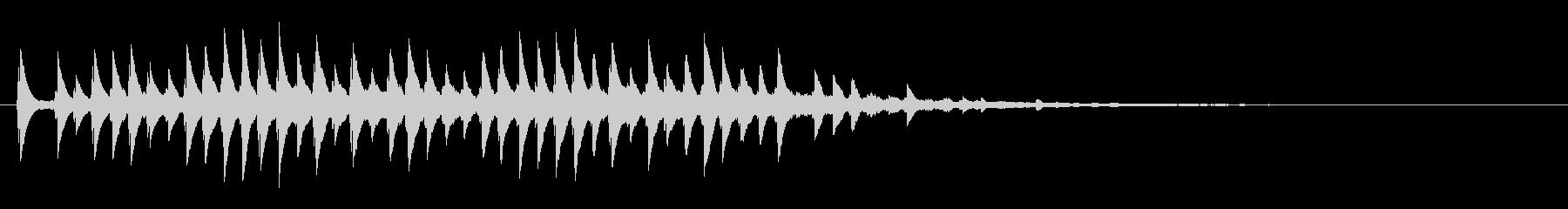 キラキラして透明感のあるサウンドロゴの未再生の波形