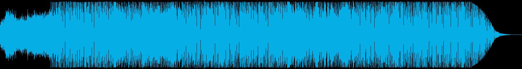 往年のカンフー映画風テクノポップの再生済みの波形