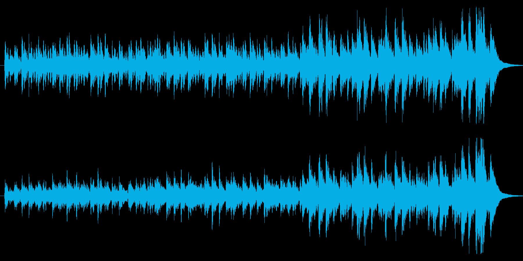 緊張感を持たせるストリングス楽曲の再生済みの波形