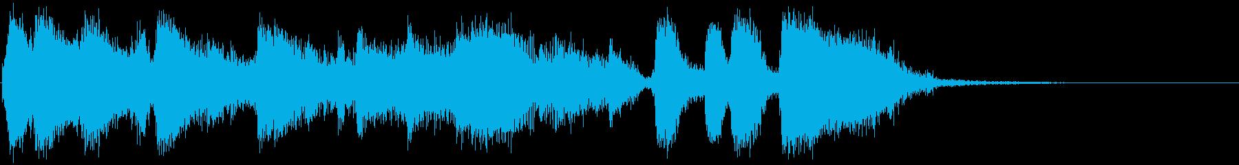 ブラスセクションのファンキーなジングルの再生済みの波形